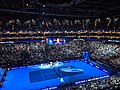 Roger Federer v Novak Djokovic at 2019 ATP Finals (49070860332).jpg