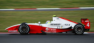 Romain Grosjean - Grosjean driving for ART Grand Prix at the Silverstone round of the 2008 GP2 Series.