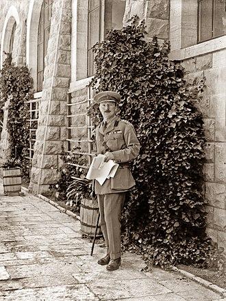 Ronald Storrs - Storrs  in Jerusalem in 1920