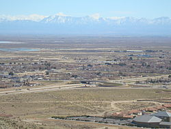 View of part of Rosamond, CA