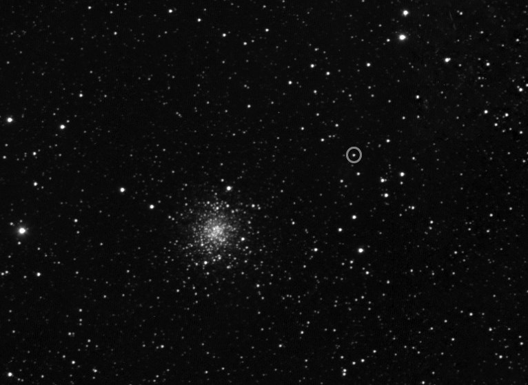 Rosetta's first sighting of its target in 2014 – narrow angle view (14813677376)