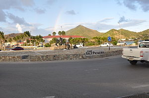 English: The roundabout located in Philipsburg...