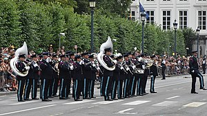 Royal Band of the Belgian Guides - Nationaal defilé 2018 21-07-2018.jpg