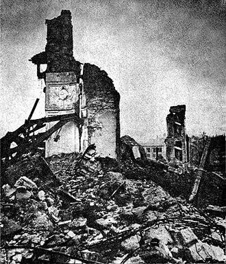 Andrzej Ciechanowiecki - Ruins of the Royal Castle Warsaw, 1945