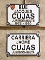Rue Cujas (Toulouse) - Plaques.jpg