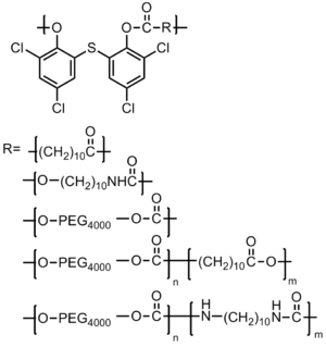 Antimicrobial polymer - Figure 3. Incorporation of Bithionol into the Polymer Backbone