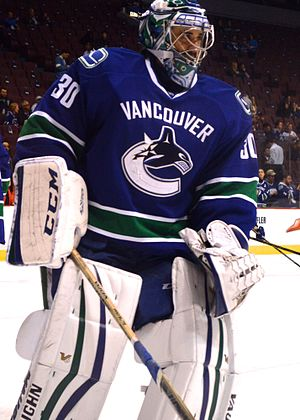 Ryan Miller - Ryan Miller with the Vancouver Canucks in 2015.