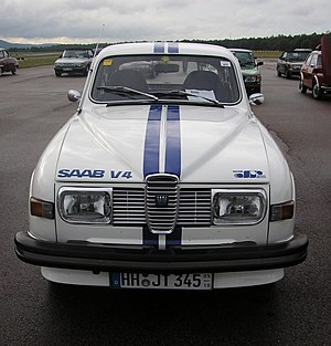 "Racing stripe - Saab 96 with ""go faster stripes"""
