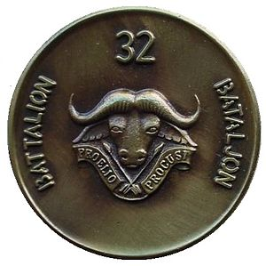 32 Battalion (South Africa) - SADF 32 Battalion commemorative medallion