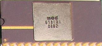 MOS Technology SID - 6581R1 produced in 1982