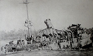 Battle of Cocos - Emden beached on North Keeling Island