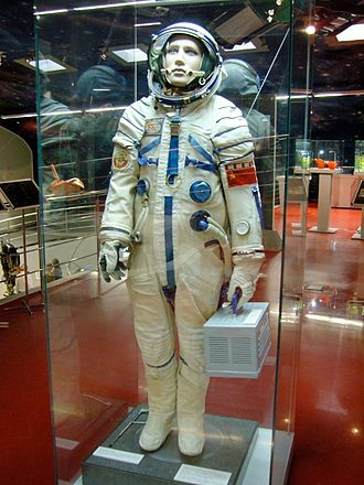 Sokol space suit - A Sokol-K spacesuit displayed at the Memorial Museum of Astronautics, Moscow (2009)