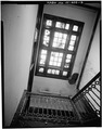 STAIRWELL SKYLIGHT, LOOKING UP - Lewis Building, 25-31 West Main Street, Waterbury, New Haven County, CT HABS CONN,5-WATB,10-3.tif