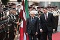 Saeimas priekšsēdētājas biedre piedalās Itālijas prezidenta oficiālajā sagaidīšanas ceremonijā (43169229531).jpg