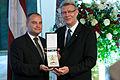 Saeimas priekšsēdētājas biedrs Gundars Daudze saņem Triju zvaigžņu ordeni (5686871111).jpg