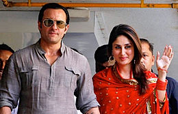 Saif Ali Khan and Kareena Kapoor pose for the camera