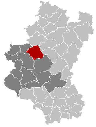Saint-Hubert, Belgium - Image: Saint Hubert Luxembourg Belgium Map