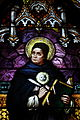 Saint Joseph's Catholic Church (Central City, Kentucky) - stained glass, St. Thomas Aquinas, detail.jpg