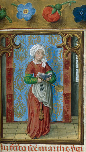 Martha - Martha from the Isabella Breviary, 1497