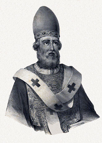 Pope Damasus I - 19th-century imagined portrait
