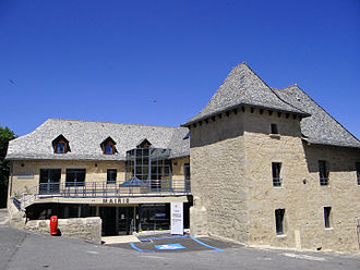 Argences-en-Aubrac - The town hall in Sainte-Geneviève-sur-Argence