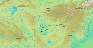 Sistan - Map of Sakastan under the Sasanians.