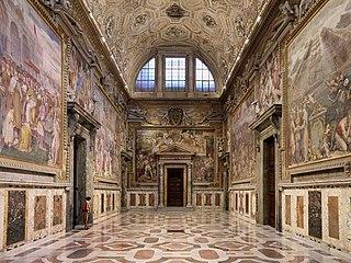 Sala Regia (Vatican) state hall in the Apostolic Palace, Vatican City.