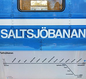 Saltsjöbanan - Image: Saltsjöbanan kollage