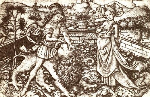 Samson als Löwenbezwinger
