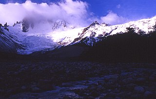 Monte San Lorenzo mountain in Chile and Argentina