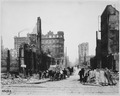 San Francisco Earthquake of 1906, This area, looking north from the junction of Sansome and Bush Streets, is known as... - NARA - 531046.tif