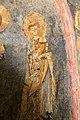 San lorenzo in insula, cripta di epifanio, affreschi di scuola benedettina, 824-842 ca., cristo benedicente alla greca tra i ss. lorenzo e stefano 05.jpg