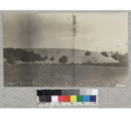Sand dune north of Fort Bragg encroaching on flat land. June, 1923.png
