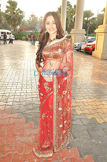 Sanjeeda at star plus dandia shoot