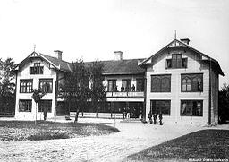 Officersmessen ved Sannahed for Närkes regiment.   Foto fra slutningen af 1800-tallet.
