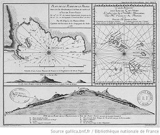 Praia - A 1772 map including Praia.
