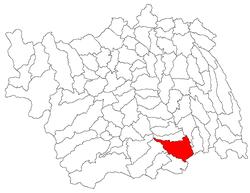 Poziția localității Sascut