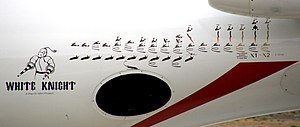 Scaled Composites White Knight - White Knight's mission decals