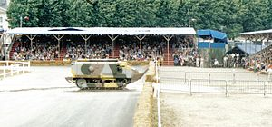 Musée des Blindés - The oldest tank in running condition in the world, a Schneider CA1 (1916), participates in the annual Carrousel at Saumur.