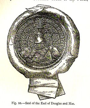 James Douglas, 2nd Earl of Douglas - Seal of the 2nd Earl of Douglas and Mar