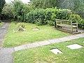 Seat in the churchyard at St Luke's, Ironbridge - geograph.org.uk - 1463274.jpg