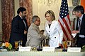 Secretary Clinton Shakes Hands With Indian Finance Minsiter Mukherjee (4731032552).jpg
