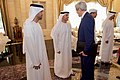 Secretary Kerry Greets Ambassador Yousef Al Otaiba in the Mina Palace (22842488547).jpg