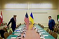 Secretary Kerry and Ukrainian Foreign Minister Klimkin Take Their Seats Before a Meeting in Brussels (30641918574).jpg