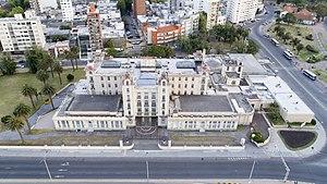 Mercosur - Headquarters of MERCOSUR, Montevideo, Uruguay, aerial view..
