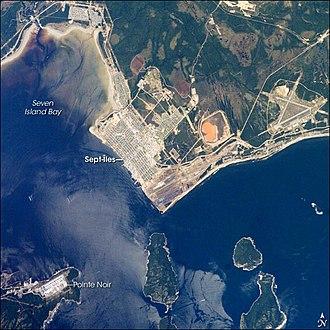 Sept-Îles, Quebec - Aerial view of Sept-Îles