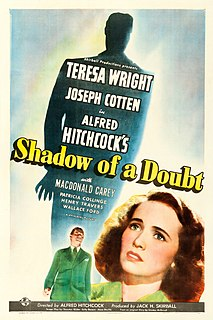 <i>Shadow of a Doubt</i> 1943 film by Alfred Hitchcock