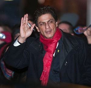 Indian actor Shah Rukh Khan leaving the press ...