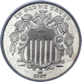 Shield Nickel with Rays - 1867 Obverse.png