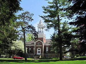 History of Shimer College - Metcalf Hall, constructed in 1908.